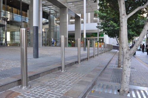 Security Bollards Brisbane Anti Ram Raid Stainless Steel Bollards